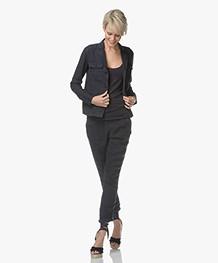 Josephine & Co Laurette Linen Jacket - Navy