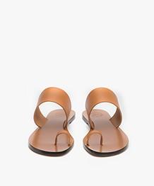 ATP Atelier Astrid Leather Toe Slipper Sandals - Terra