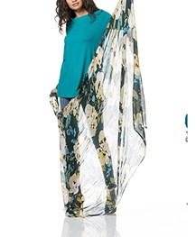 Kyra & Ko Ruby Modalmix Print Sjaal - Bottle