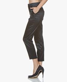 Filippa K Emma Cropped Satin Pantalon - Navy