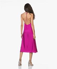 Filippa K Silk Halter Dress - Orchid