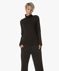 Repeat Long Sleeve with Turtleneck - Black
