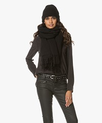Drykorn Abadi Wollen Sjaal - Zwart