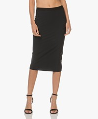 JapanTKY Nosi Jersey Pencil Skirt - Black-Blue