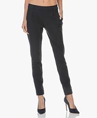 JapanTKY Hanna Jersey Pleated Pants - Blue Black