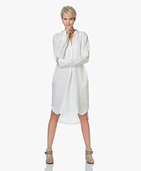 LaSalle Pure Linen Shirt Dress - White