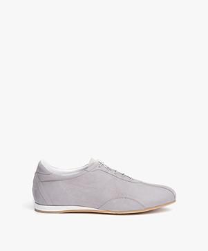 Panara Slanke Suède Sneakers - Grigio