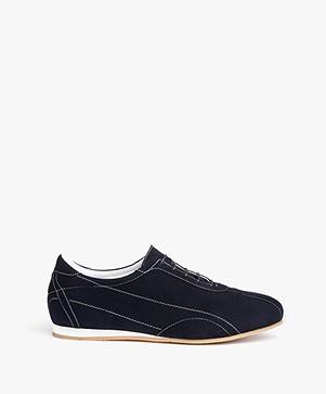 Panara Slanke Suède Sneakers - Marina