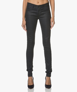 Denham Spray Coated Skinny Jeans - Dark Navy