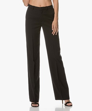 Drykorn Crack Wide Pants - Black
