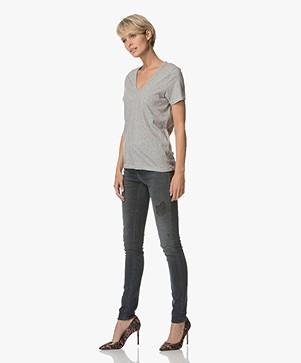 786745df89c1 Rag & Bone / Jean The Vee T-shirt - Heather Grey - the vee ...