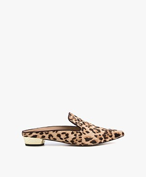 Sam Edelman Augustine Jungle Gold Heel Mules - Sand/Brown