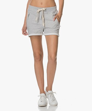 Sincerely Jules Lux Jogger Shorts - Heather Grey