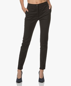 no man's land Jacquard Pantalon - Core Black