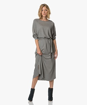 American Vintage Jinwood Jersey Maxi Dress - Heather Grey
