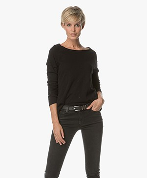 American Vintage Sweater Sonoma - Zwart