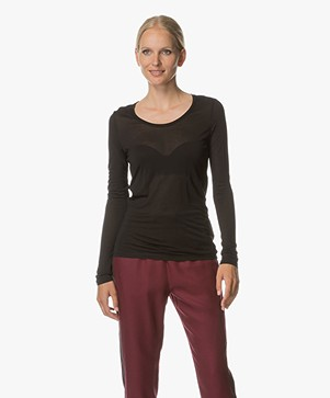 Marie Sixtine Cecile Modal Long Sleeve - Charbon
