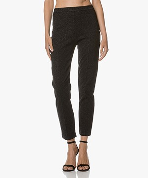 By Malene Birger Ivannoz Lurex Pants - Zwart