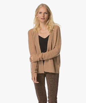 Drykorn Kisa Knitted Open Cardigan - Blush