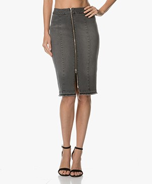 By Malene Birger Divided Denim Skirt - Black
