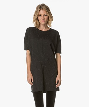 Denham Unite Jersey Dress - Shadow Black