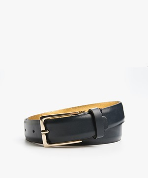 Drykorn Cheeky Leather Belt - Navy