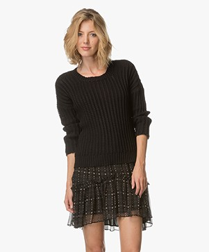 Magali Pascal Rib Knit Jumper - Black