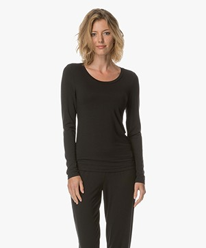 Calvin Klein Long Sleeve in Modal Jersey - Black
