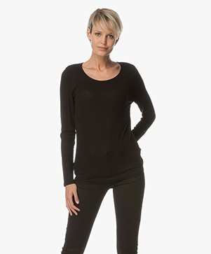 Repeat Knitted Long Sleeve - Black