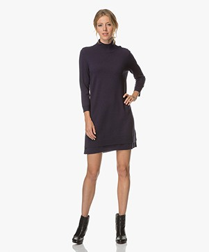Repeat Cashmere Knitted Dress - Dark Blue