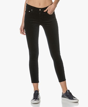 Rag & Bone / Jean Ame Velvet Pants - Navy Velvet