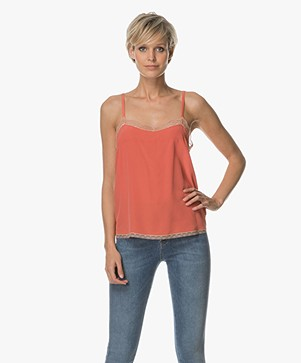 Zadig et Voltaire Caraco Top - Corail