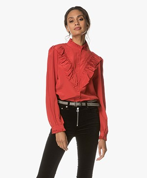 Zadig et Voltaire Taccora Deluxe Blouse in Silk - Red