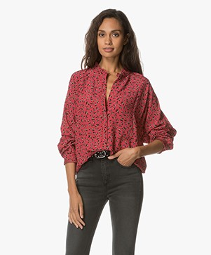 Zadig et Voltaire Tamis Liberty Print Blouse - Red