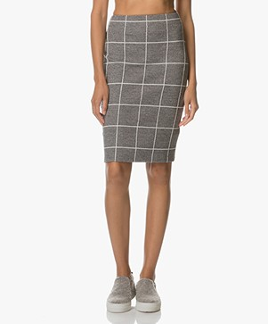 Kyra & Ko Ada Pencil Skirt in Tweed Jersey - Grey