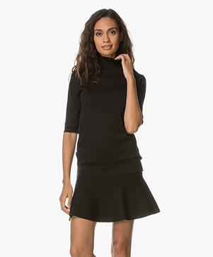JapanTKY Tora Half Sleeve Turtleneck - Black