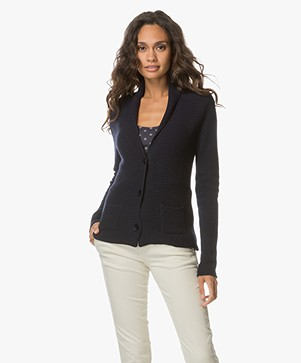Belluna Rodino Wool Blend Cardigan - Navy