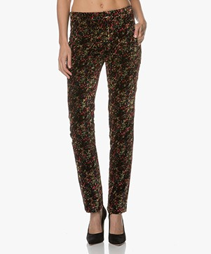 Ba&sh IRoom Velvet Pants with Print - Multicolored