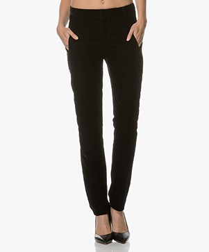 Ba&sh Room Fluwelen Pantalon - Zwart