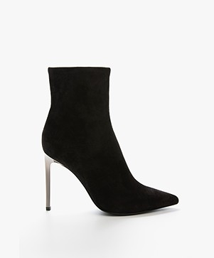 Rag & Bone Wes Stiletto Ankle Boots - Black Suede