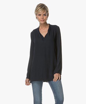 Woman by Earn Demi V-hals Blouse - Navy