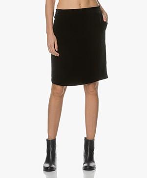 Drykorn Janice Velvet Skirt - Dark Blue
