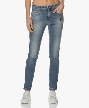 Indi & Cold Jeans met Applicaties - Used