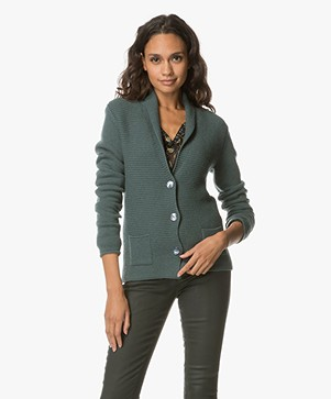 Belluna Rodino Wool Blend Cardigan - Green