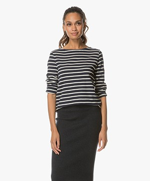 Petit Bateau Striped Long Sleeve - Smoking/Coquille
