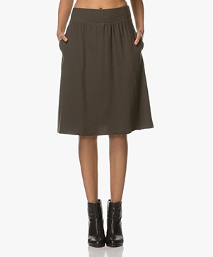 American Vintage Opyntale Jersey A-line Skirt - Maquis
