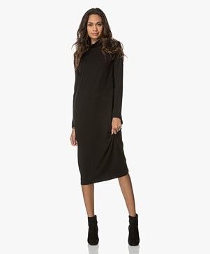 Baukjen Lexie Turtleneck Dress - Caviar Black