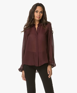 FWSS Liv Silk Blouse with Pleating - Winetasting