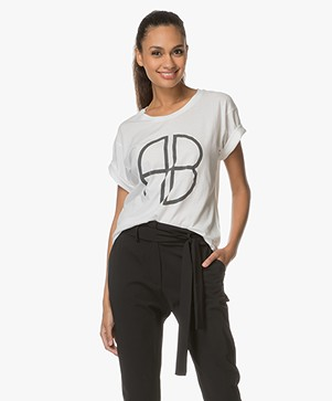 ANINE BING Cotton Logo Tee - White