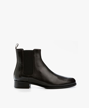 Panara Chelsea Leather Boots - Dark Brown